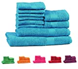 TRIDENT Soft and Light 100% Combed Cotton 400 GSM 10-Pieces (Bath,...