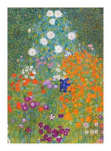 Puzzle Madera Arte Gustav Klimt, Flores 300/500/1000 Piezas de un Rompecabezas   Único Cortar Piezas entrelazadas (Regalo) (Size : 300pcs )