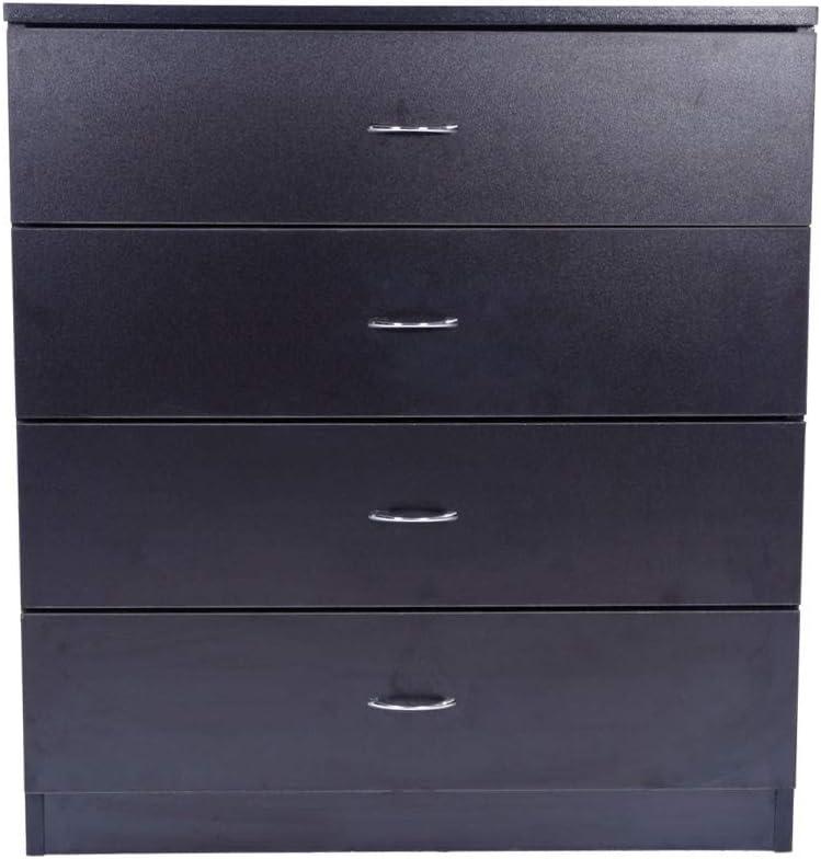 Takefuns MDF Wood Simple New Shipping Free 4-Drawer Dresser Black shopping