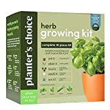 Herb Garden Growing Kit - Complete Kit - Easily Grow 4 Indoor Herbs from Seeds (Basil, Cilantro, Chives & Parsley) & Comprehensive Guide - Unique Gardening Gifts for Women & Men : Plant Starter Kit