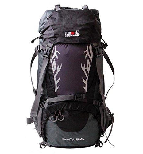 sac à dos randonnée Sac d'escalade en plein air de grande capacité sac à bandoulière hommes et femmes voyagent sac à dos de camping 60L 50L Sacs à dos de randonnée ( Couleur : Noir , taille : 60 l )
