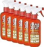 Stop 6 Insetticida Spray Multi Insetti 375ml Acari Formiche Pulci Cimici Tarme Mosche 6in1...