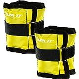 Movit 2er Set Gewichtsmanschetten für Hand- und Fußgelenke 2X 0,5kg Laufgewichte gelb