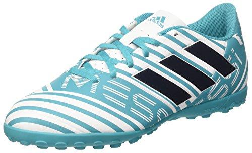 adidas Herren Nemeziz Messi 17.4 TF CG2974 Fußballschuhe, Weiß (Footwear White/Legend Ink/Energy Blue), 44 2/3 EU