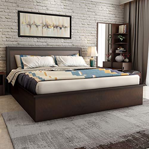 Durian Nina Queen Size Bed (Dark Cherry)