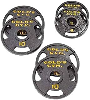 Gold's Gym 50 Pound Olympic Plate Set