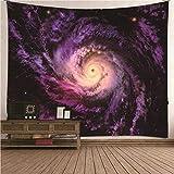 BATOHOME Naturthema Thor Wandteppich, Wandtuch Psychedelic Taifunlandschaft Wandtuch für Schlafzimmer Wohnzimmer Größe 260x240CM