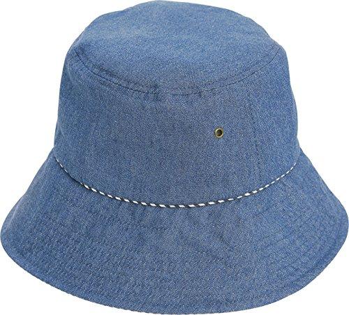 コジット帽子 髪型 ふんわり UV デニムハット ブルー 1個 コジット