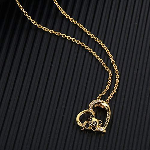 HALLTYG Collar Cadena de Cuerda Colgante Collar de Cadena de Encanto para Hombres Mujeres Moda Hip Hop joyería Collar Regalo joyería