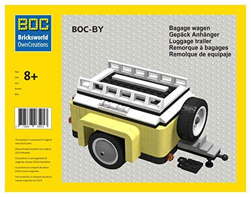 Bricksworld BOC-by Gepäck Anhänger Farbe Gelb Zubehör für Lego® FIAT 500