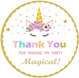 Magical Unicorn Stickers-Party Favors-Thank You Stickers For Party Supplies