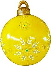 oshhni Bola Insuflável de Natal 60cm Insuflável Atmosfera Festiva Suprimentos Festivos Bolas Decoradas Balão Pendurado Bol...