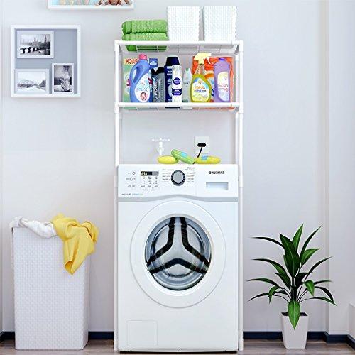 LITINGMEI Shelf Badezimmer-Speicher-Rahmen-Toiletten-Toiletten-Toiletten-Vollenden-Boden-Speicher-Weiß 68 * 27.8 * 134cm
