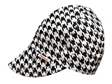 Comeaux Caps Reversible Welding Cap Black and White Houndstooth Size 7 1/2