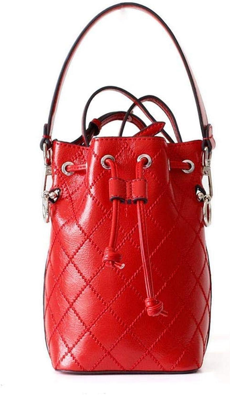 Evening Bag Women's Leather Bucket Handbag Bag Party Handbag (color   C)
