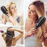 Haartrockner Warmluftbürste, Dee Banna Upgrade 5 In 1 Stylingbürste Hair Dryer & Volumizer Heißluftbürste, Multifunktionaler Negativionen-Föhnbürste, Heißluftkamm für Alle Haartypen - 7