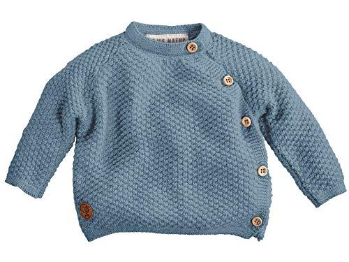 Bio Baby Jacke Schlüttli Strick 100% Bio-Baumwolle (KbA) GOTS zertifiziert, Blau, 62/68
