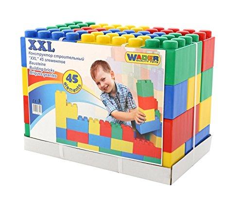 Wader 37510 Bausteinblock XXL, 45 Teile