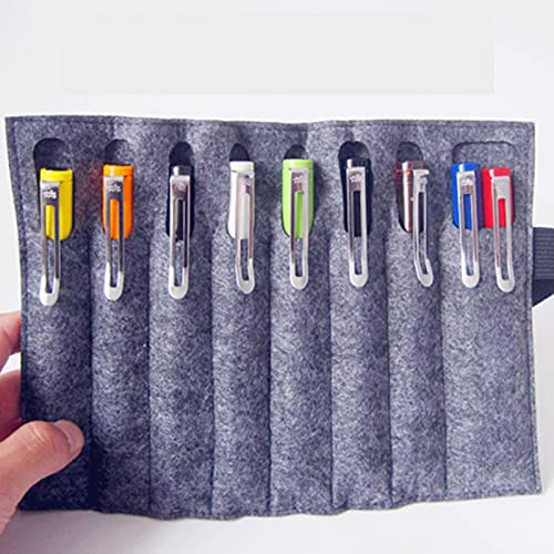 HXYLSZZC Bolsa creativa y multifuncional, plegable, de fieltro, caja de papelería para estudiantes, para niños, estudiantes, niñas, niños, regalos para niños, (color gris)