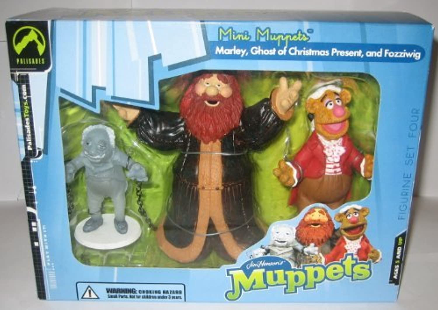 The Muppet Show Mini Muppets Marley, Ghost Of Christmas Past & Fozziwig Palisades 3 Piece Figure Set Number 4 by Palisades