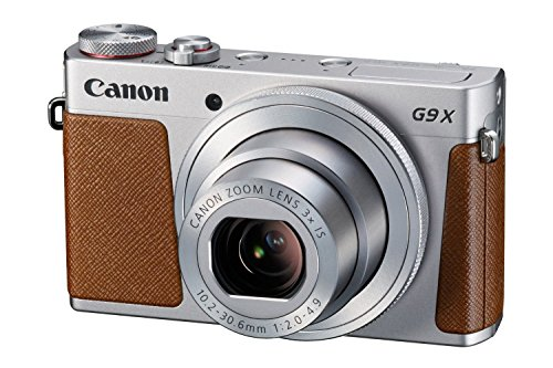 Canon PowerShot G9 X Kompaktkamera (20,2 MP, 7,5cm (3 Zoll) Display, Full HD, WLAN, NFC, Image Sync, 1080p) silber