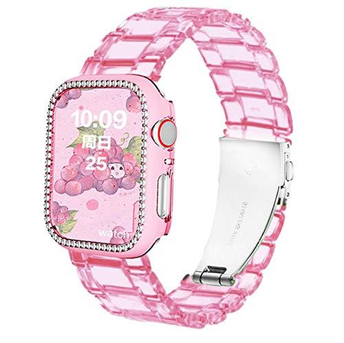 Correa de reloj transparente Bgfh para Apple Watch 6 Se 5 4 bandas 44mm 42mm 40mm 38mm para Iwatch Series 20mm correa de reloj de pulsera de plástico