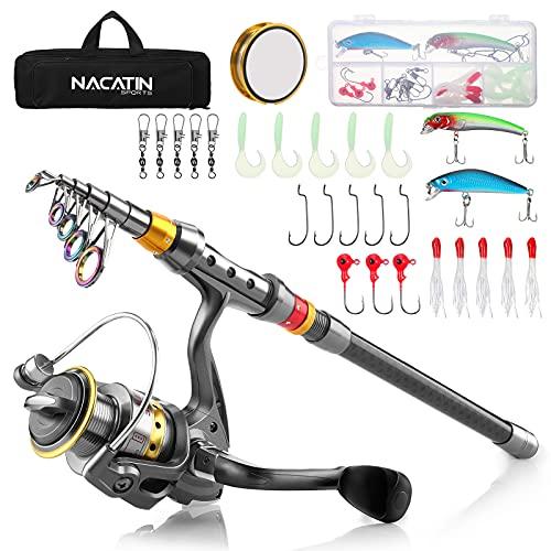 NACATIN Kit de Pêche Complet avec Canne à pêche...