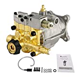 Pressure Washer Pump 3400 PSI 2.5GPM 3/4' Shaft Brass Horizontal OEM Power Washers Replacement Parts