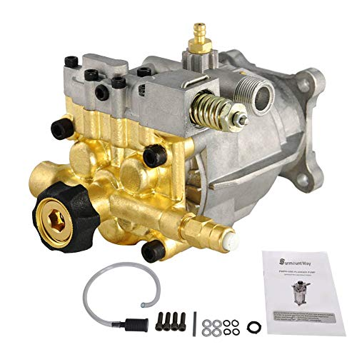 """Pressure Washer Pump 3400 PSI 2.5GPM 3/4"""" Shaft Brass Horizontal OEM Power Washers Replacement Parts"""