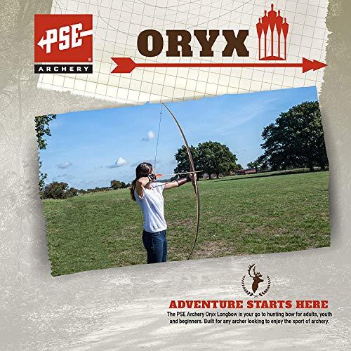 PSE ARCHERY Oryx Longbow-Wood-Set-Hunting - Right Hand - 68-45