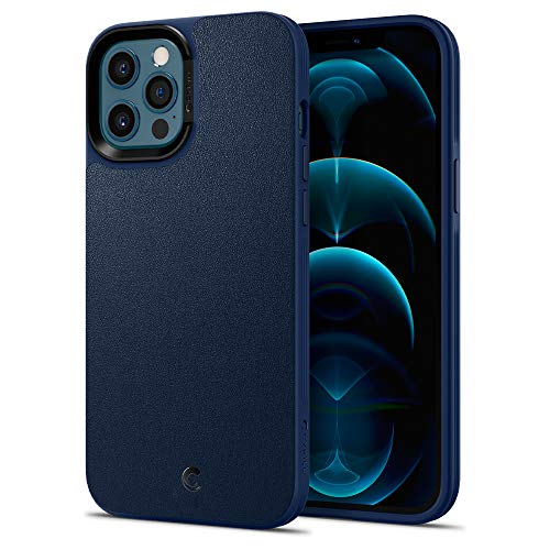 CYRILL Leather Brick Designed for iPhone 12 Pro Max Case (2020) - Navy