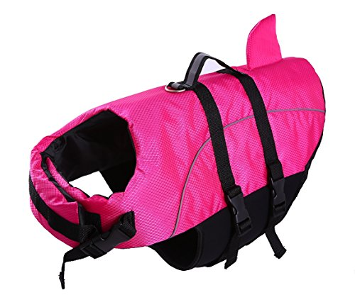 Large Dog Life Jacket Dogs Life Vests For Swimming Extra LargePuppy Float Coat Swimsuits Flotation Device Life Preserver Belt Lifesaver Flotation Suit For Pet Bulldog Lab With Reflective Strap