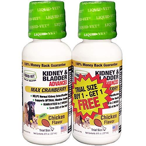 Liquid-Vet K9 Kidney & Bladder Advanced Formulas, Chicken, 8 oz BOGO Trial Pack