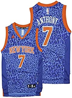 2722003c adidas York Knicks NBA Big Boys Youth Carmelo Anthony #7 Crazy Light  Swingman Jersey,