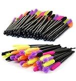 OKDEALS 250 Pieces Disposable Mascara Wands Silicone, Eyelash Brush, Makeup Mascara Applicators Kit, 5 Colors