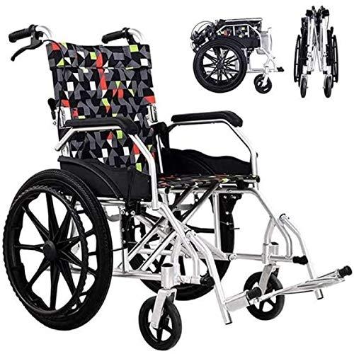 LEEFISH Rollstuhl,Faltbar,Trommelbremse Mit Steckachsensystem,für Personen Mit Körperlichen Beeinträchtigungen Und ältere Menschen