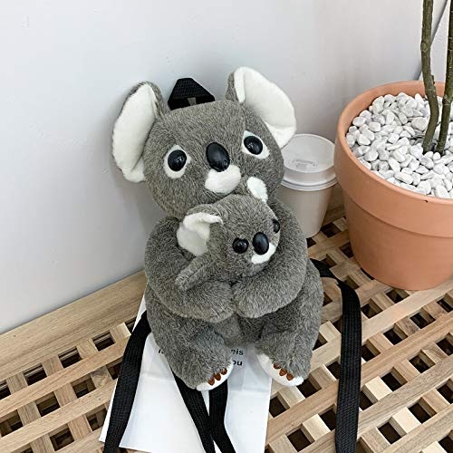 Weichuang Doll bag Mother and Kids Koala Bear Plush Backpack Toys Animals Key Phone Coin Purse Bag Dolls Gift for Kids Friends Doll bag