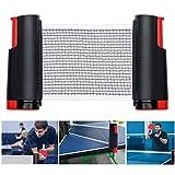 TheStriven Portátil Retráctil Table Tennis Net Red Ajustable de Ping Pong Repuesto Red de Tenis de Mesa Plegable Red Retráctil de Ping Pong de Repuesto para Mesa de Oficina Cocina o Mesa de Comedor