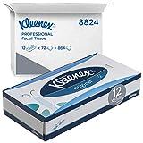 Kleenex 8824 Caja de Pañuelos, 12 Paquetes de 72 hojas, 3 Capas, Suaves y Resistentes, Sin...