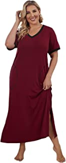 Women Super Comfy Plus Size Long Nightgown Sleepwear 1X-5X