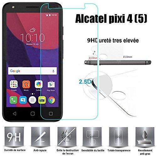 Alcatel Pixi 4 (5) Protector de Pantalla, Scott-ES Vidrio Templado Cristal Protector...