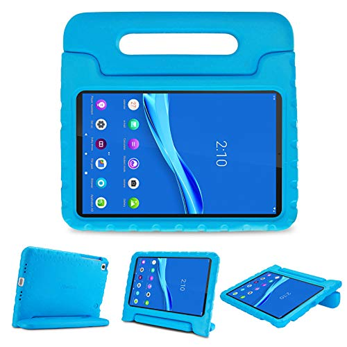 ProHülle Kinder Hülle mit Kickstand für Lenovo Tab M10 Plus 10.3 Zoll 2nd Gen 2020, Ultra Leicht Stoßfest Robust Kind Schutzhülle Drehbar Griff Handle Standfunktion –Blau