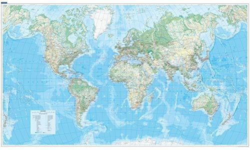 Poster Welt, 1:30 Mio., physisch (ca. 140 x 82 cm) (Kümmerly+Frey Welt- und Kontinentkarten)