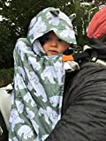 Bundlebean babywearing: all-weather impermeable Sling y Carrier funda sage-grey osos polares