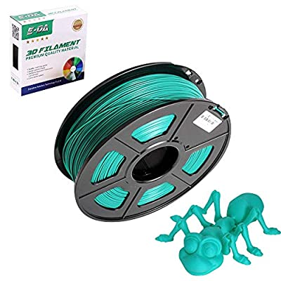 E-DA PLA 3D Printer Filament, PLA Filament 1.75mm 1KG, with High Strength and Better Toughness, 3D Printing Filament for 3D Printers, Dimensional Accuracy +/- 0.03mm, (Silk Green)