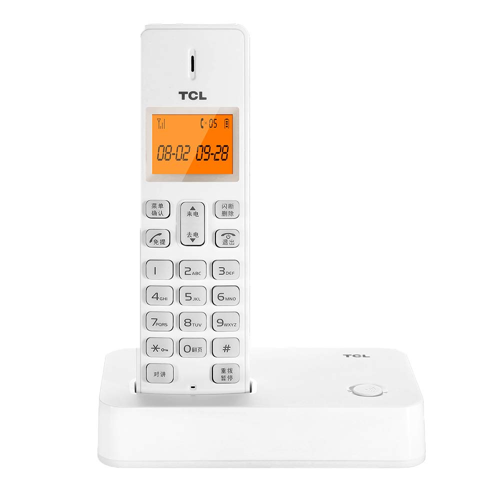 Telefono inalámbrico digital 2,4 G, menú chino, teléfono fijo inalámbrico para el hogar, llamada manos libres, entrada de entrada interna, extensión de extensión, llamada de tres vías, apto para el hogar y