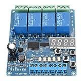 Liineparalle Relé multifunción 8-36V Relé de retardo de Tiempo multifunción de 4 Canales con optoacoplador Interfaz de optoacoplador Módulo LED optoacoplador