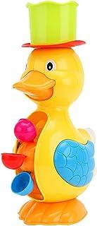 Toyvian Baby Bath Toys Duck Dolphin Water Wheel Toys Interactive Bathtub Time Fun Toys for Toddlers Boys Girls Bathtub Swi...