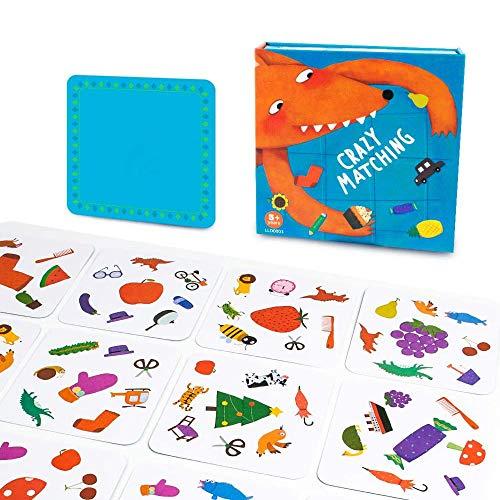 Mankoo Juego de Cartas de par de Animales con Memoria Juego de Mesa a Juego Loco Divertidos Juguetes educativos para niños Casuales