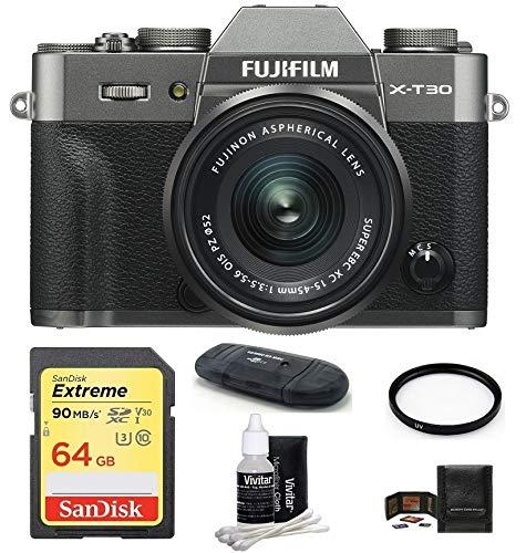 Fujifilm X-T30 Mirrorless Digital Camera with XC 15-45mm f/3.5-5.6 OIS PZ Lens...